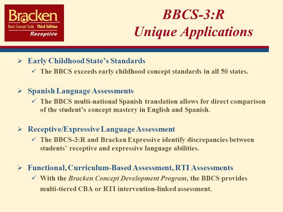 BBCS-3:R Unique Applications