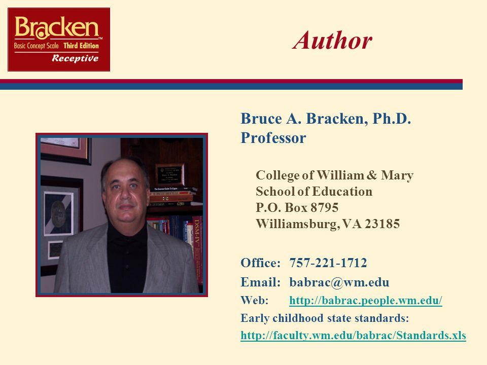 Author Bruce A. Bracken, Ph.D.