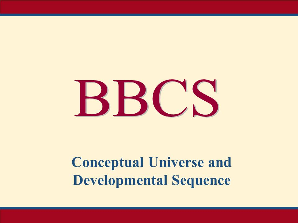 Conceptual Universe and Developmental Sequence