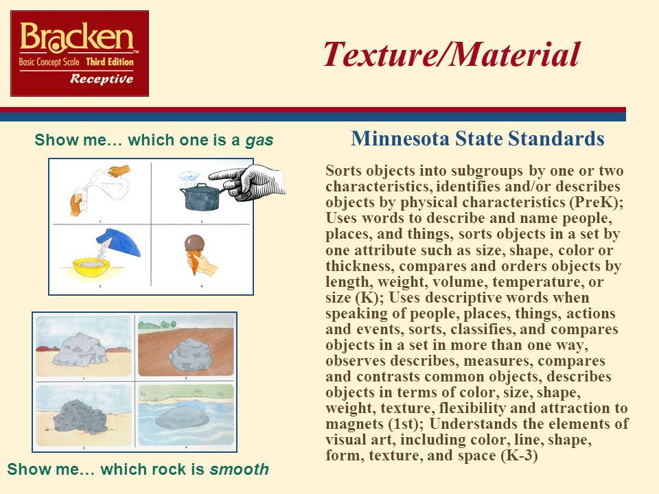 Minnesota State Standards Show me… which rock is smooth