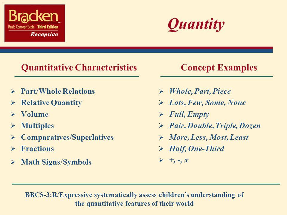 Quantitative Characteristics