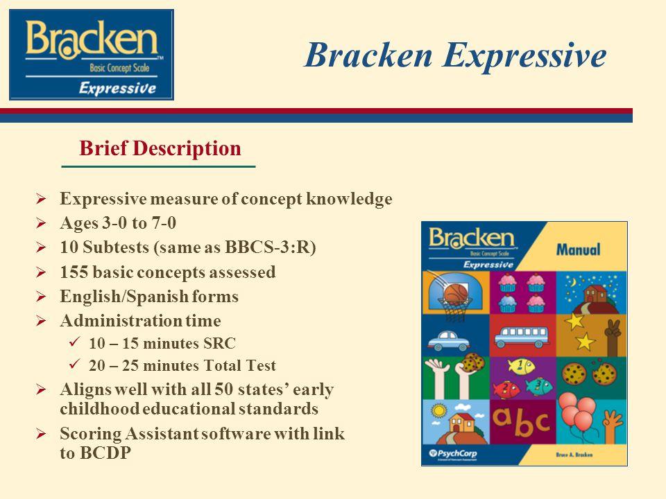 Bracken Expressive Brief Description