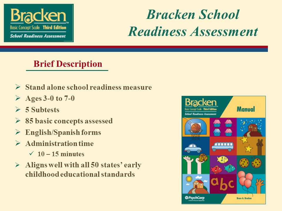 Bracken School Readiness Assessment