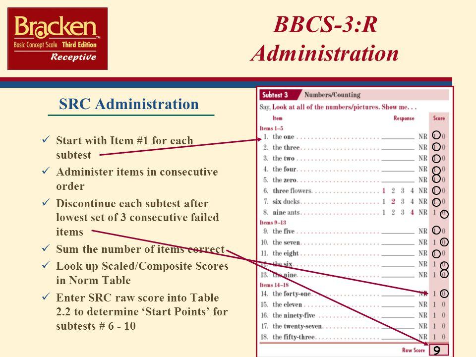 BBCS-3:R Administration