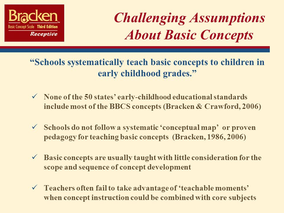 Challenging Assumptions About Basic Concepts