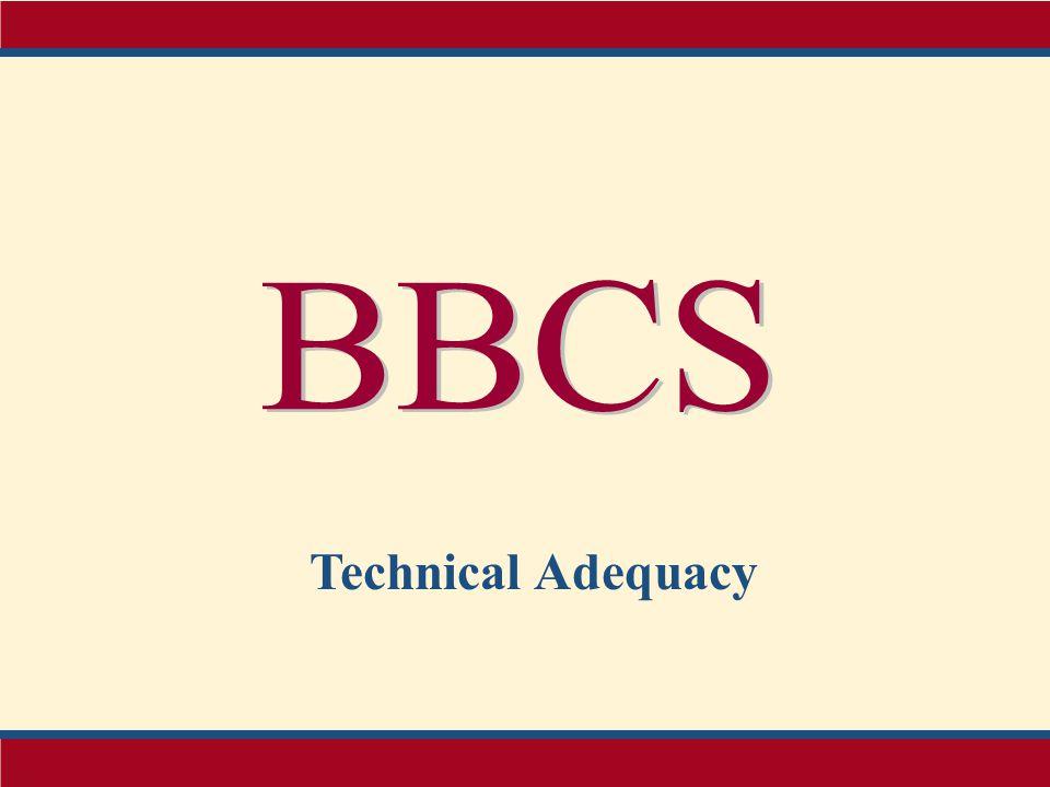 BBCS Technical Adequacy