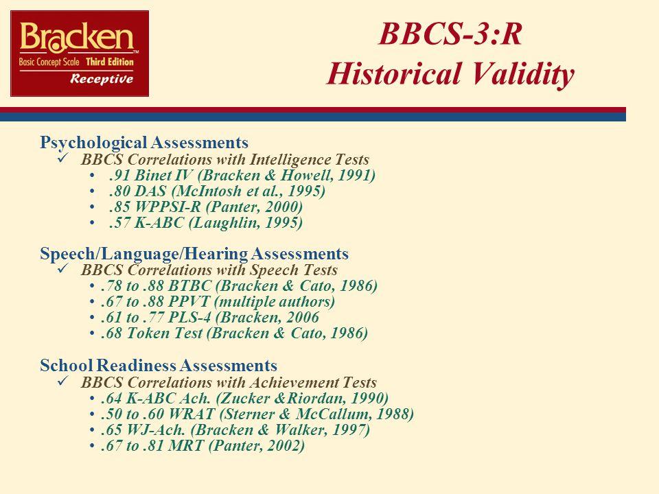 BBCS-3:R Historical Validity