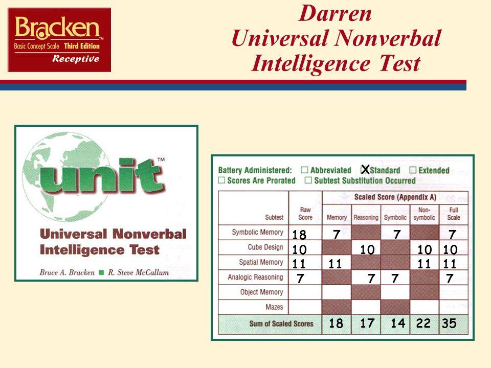 Darren Universal Nonverbal Intelligence Test