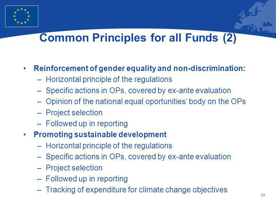 Common Principles for all Funds (2)