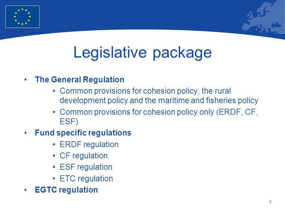 Legislative package The General Regulation