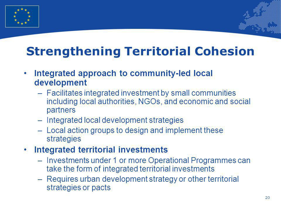 Strengthening Territorial Cohesion