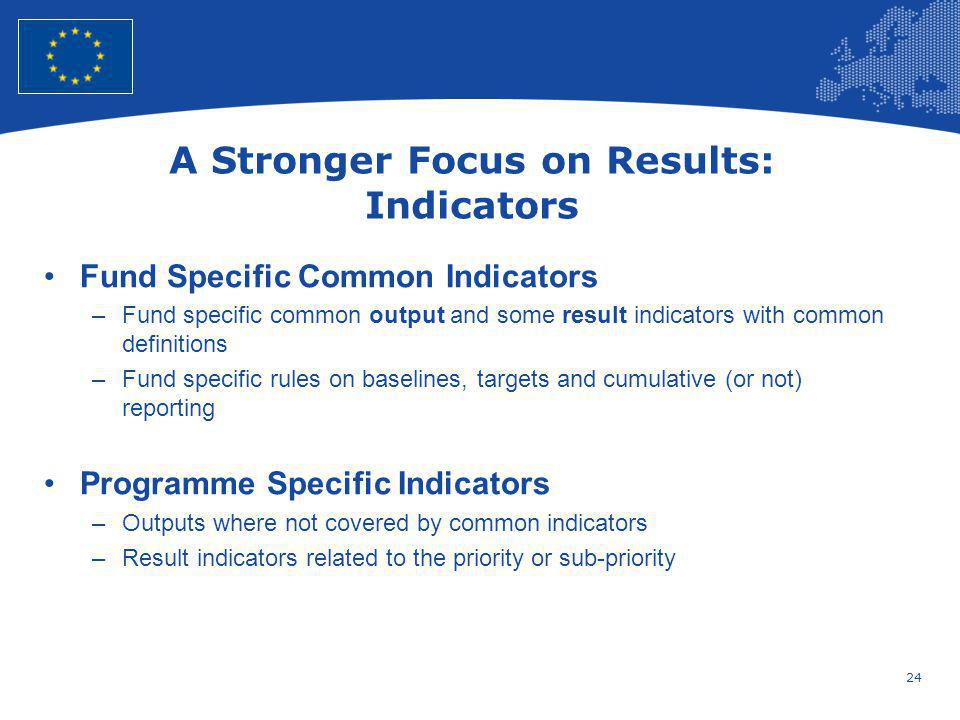 A Stronger Focus on Results: Indicators