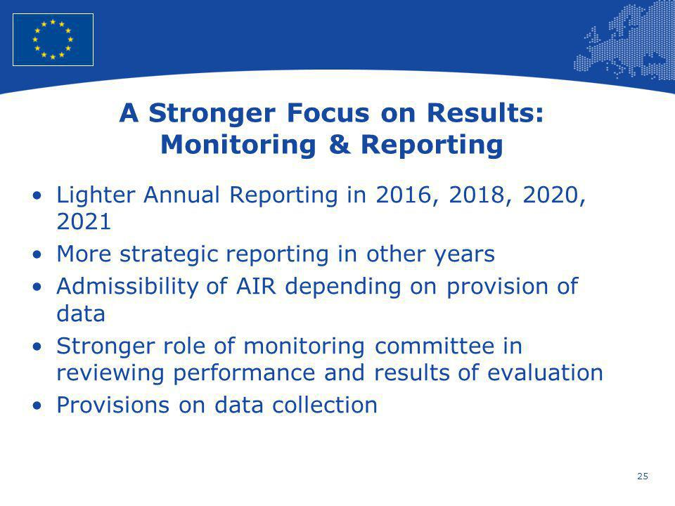 A Stronger Focus on Results: Monitoring & Reporting
