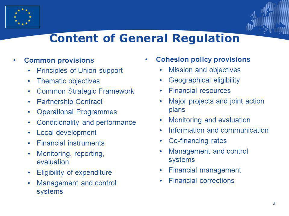 Content of General Regulation