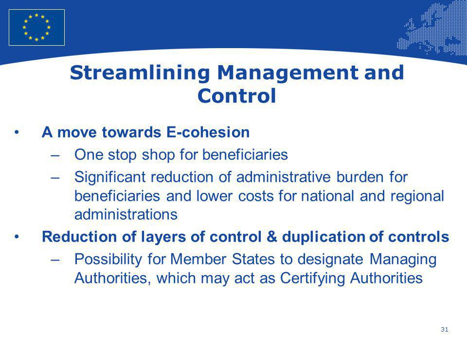 Streamlining Management and Control