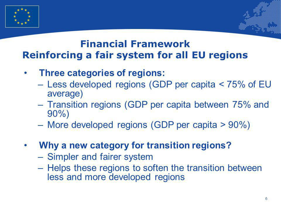 Financial Framework Reinforcing a fair system for all EU regions