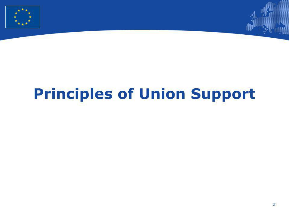 Principles of Union Support