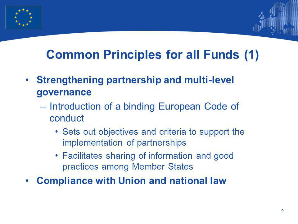 Common Principles for all Funds (1)