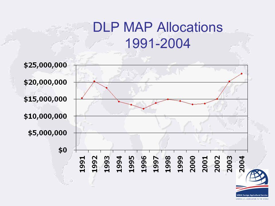 DLP MAP Allocations 1991-2004