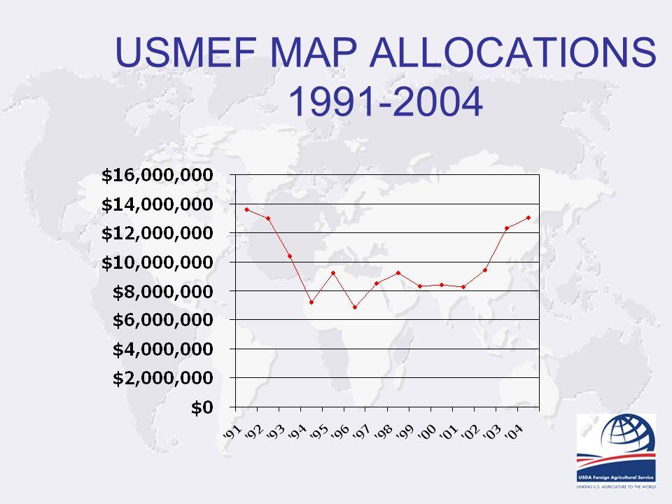 USMEF MAP ALLOCATIONS 1991-2004