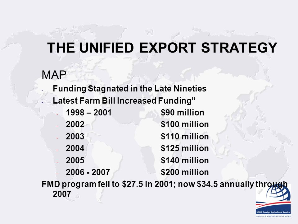 THE UNIFIED EXPORT STRATEGY