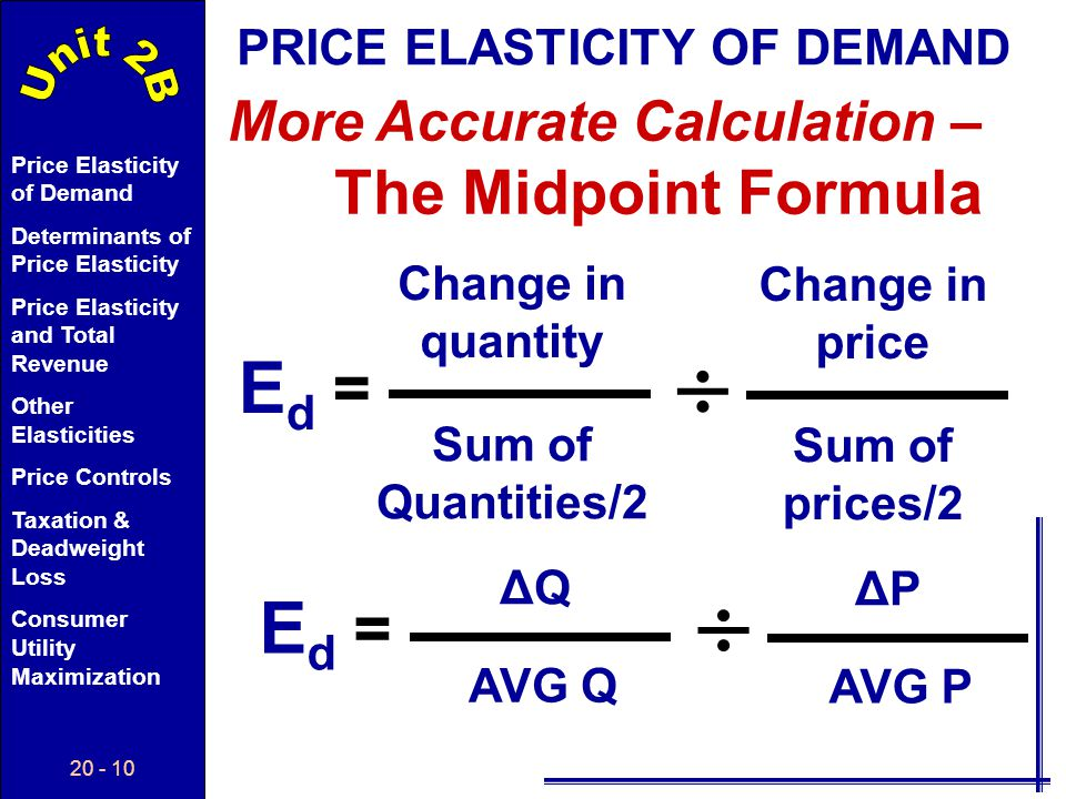   Ed Ed = = More Accurate Calculation – The Midpoint Formula