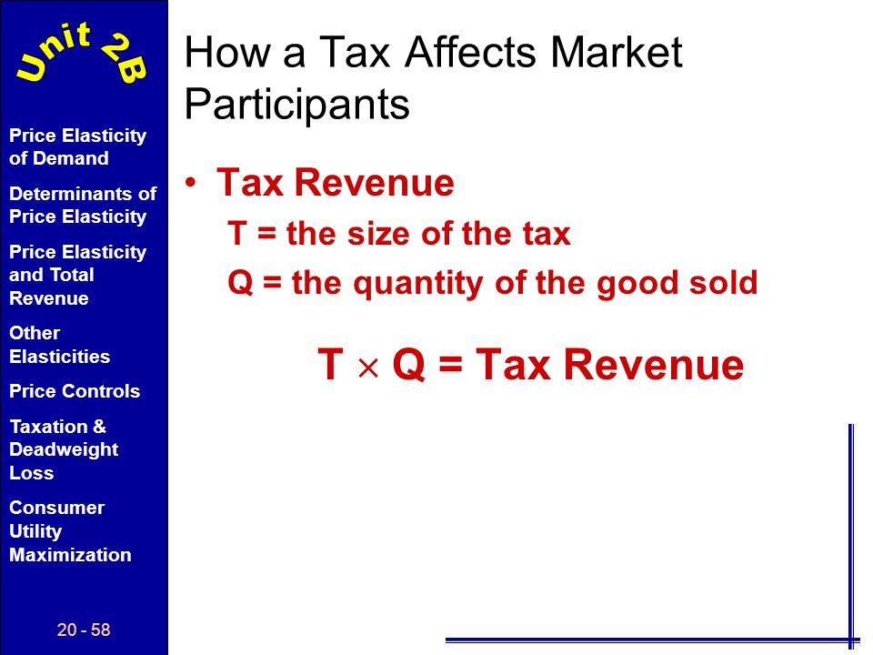 How a Tax Affects Market Participants