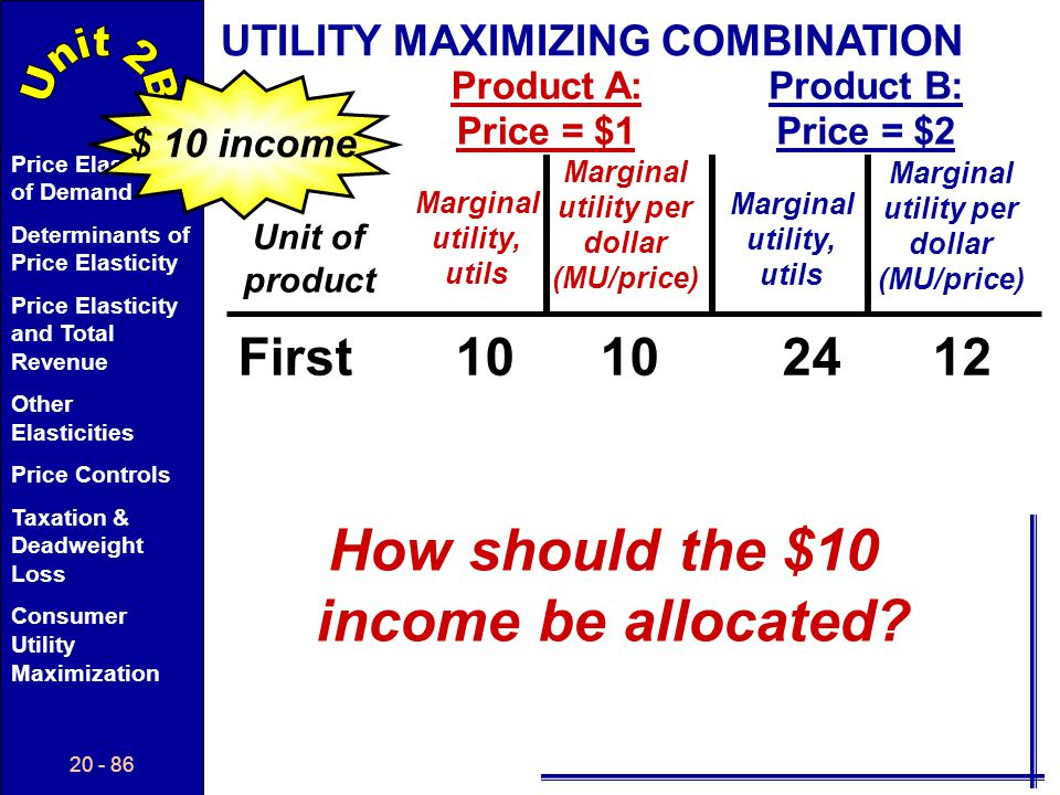 How should the $10 income be allocated