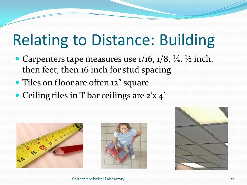 Relating to Distance: Building