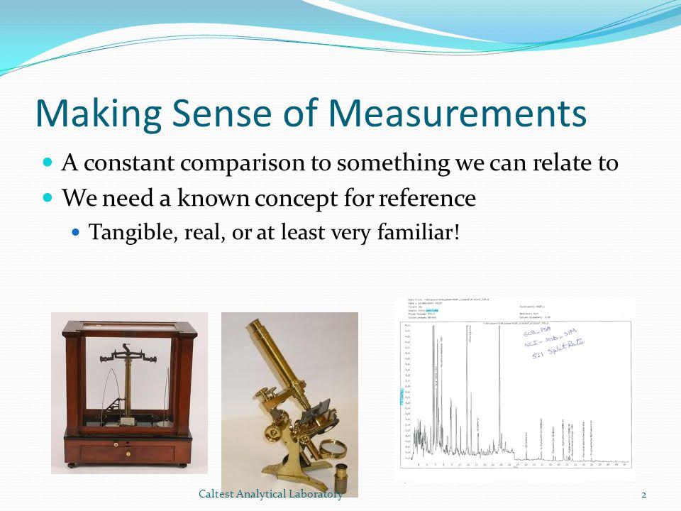 Making Sense of Measurements