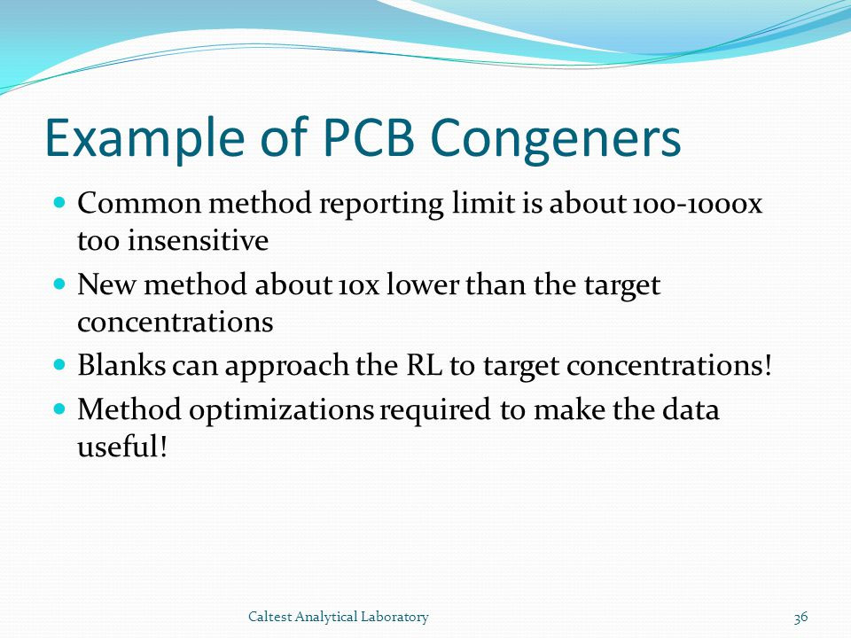 Example of PCB Congeners
