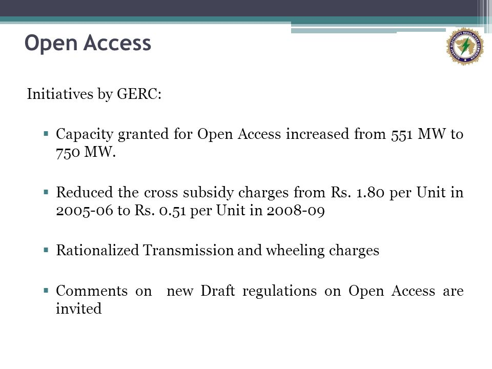Open Access Initiatives by GERC: