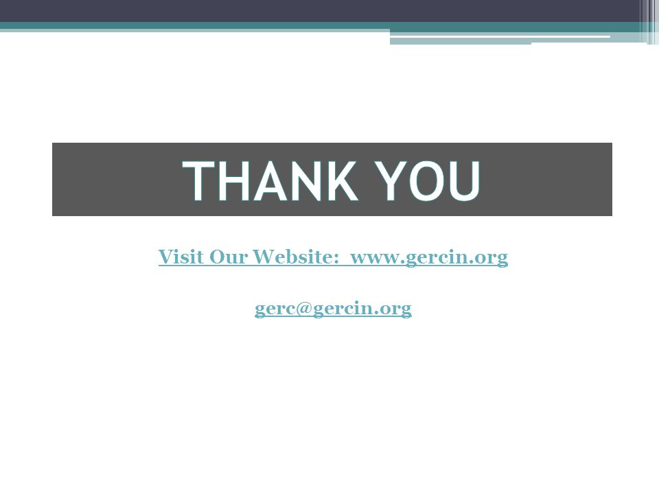 Visit Our Website: www.gercin.org