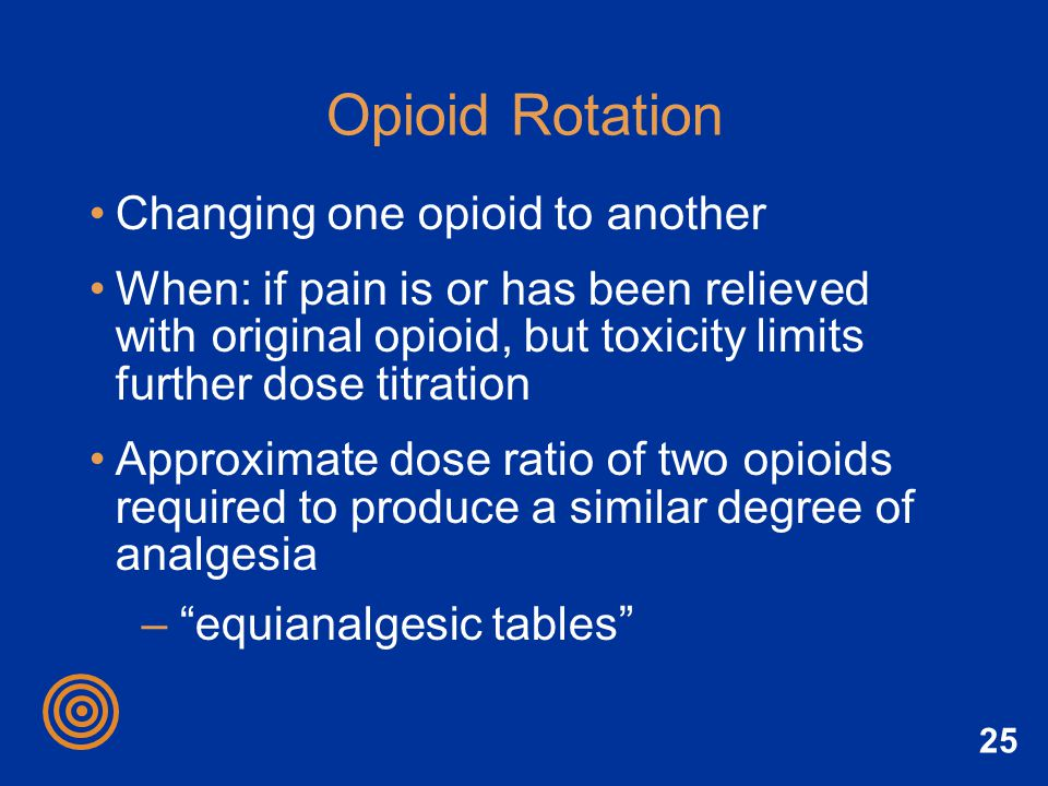 Opioid Rotation Changing one opioid to another