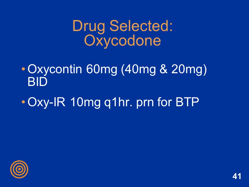 Drug Selected: Oxycodone
