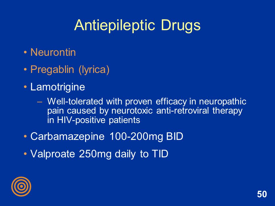 Antiepileptic Drugs Neurontin Pregablin (lyrica) Lamotrigine