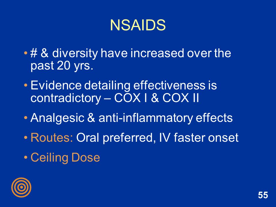 NSAIDS # & diversity have increased over the past 20 yrs.