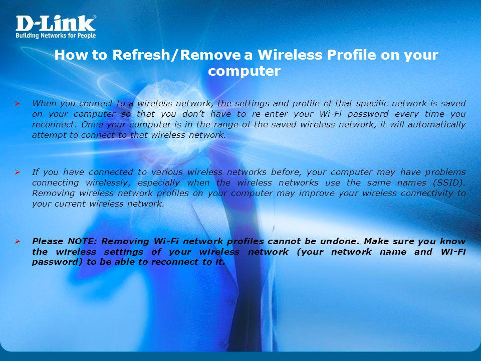 How to Refresh/Remove a Wireless Profile on your computer