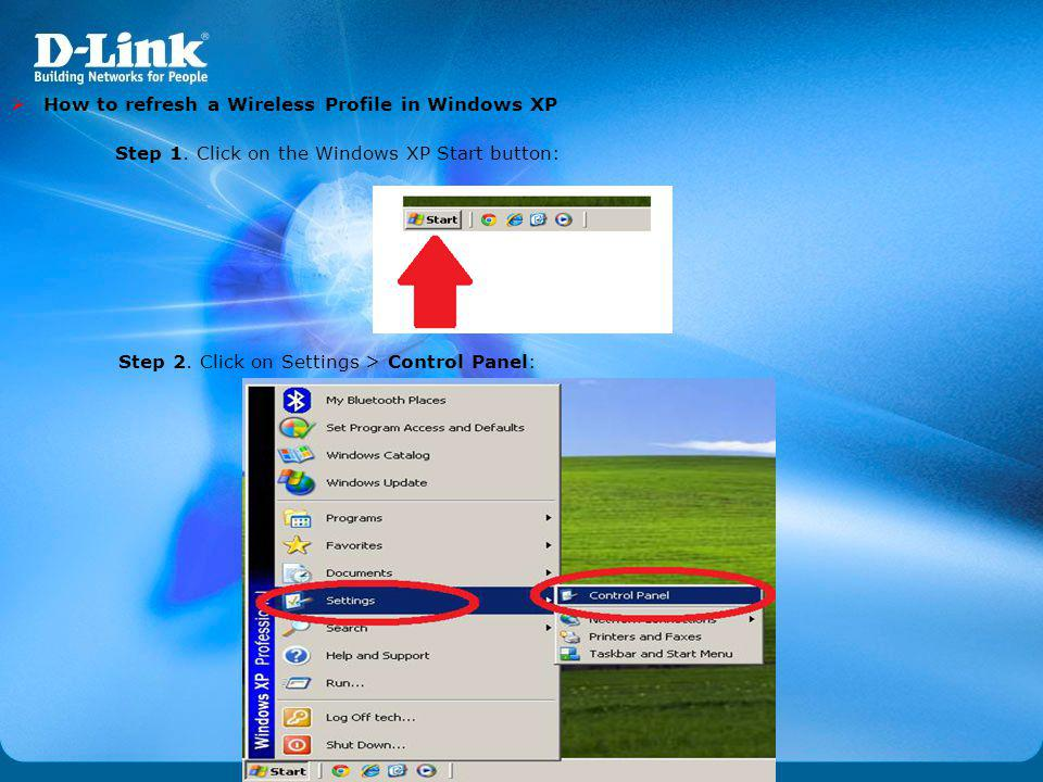 How to refresh a Wireless Profile in Windows XP
