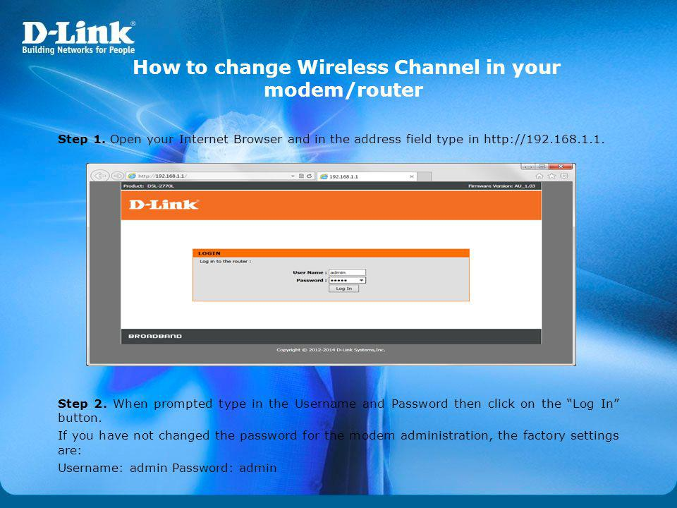 How to change Wireless Channel in your modem/router