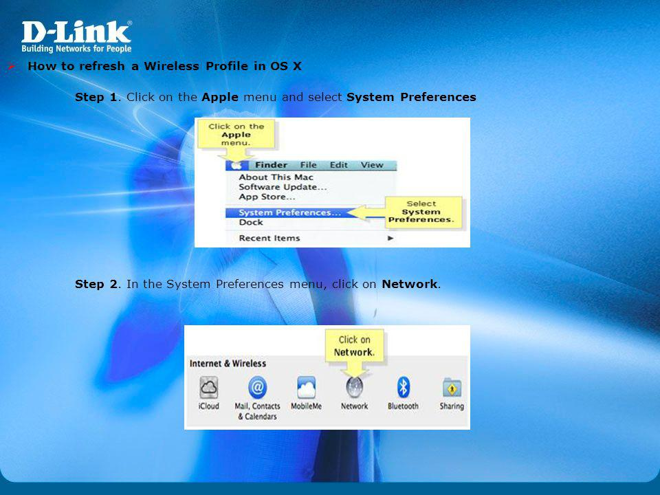 How to refresh a Wireless Profile in OS X