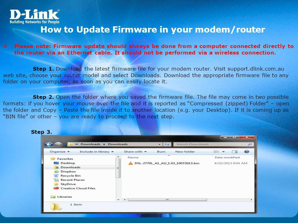 How to Update Firmware in your modem/router
