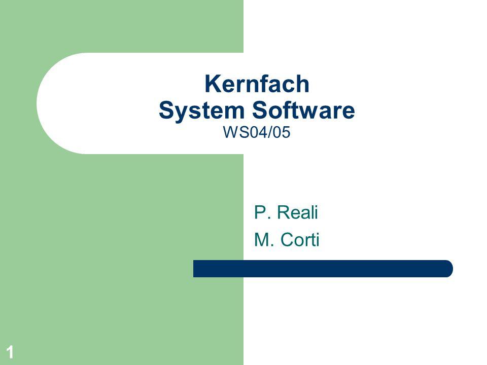 Kernfach System Software WS04/05
