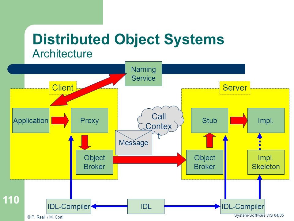 Distributed Object Systems Architecture