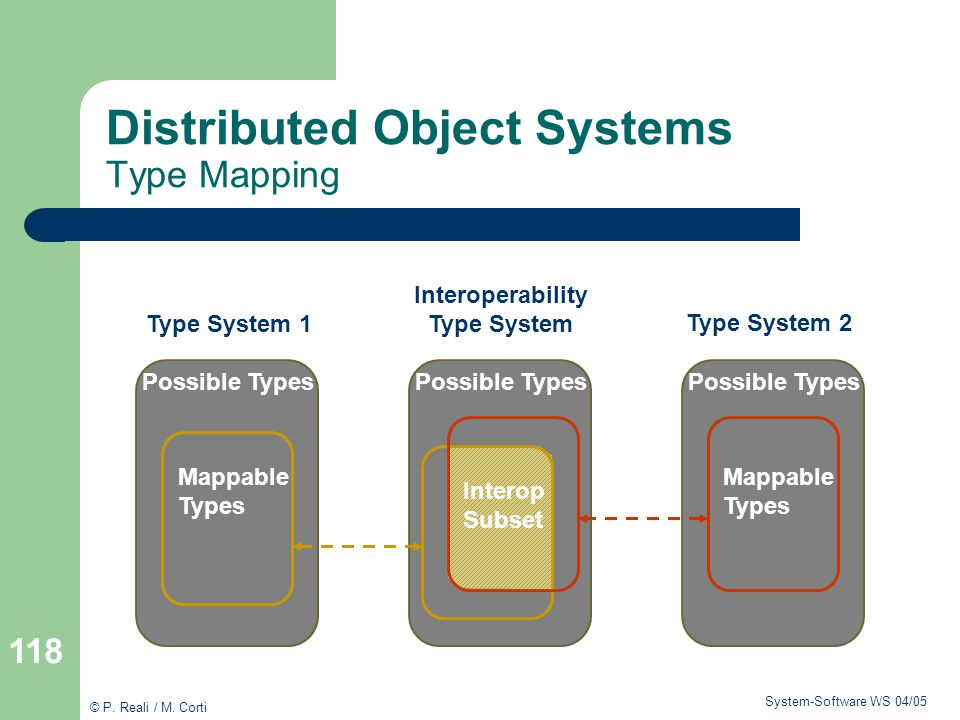 Distributed Object Systems Type Mapping