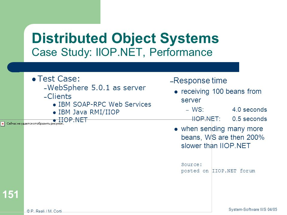 Distributed Object Systems Case Study: IIOP.NET, Performance