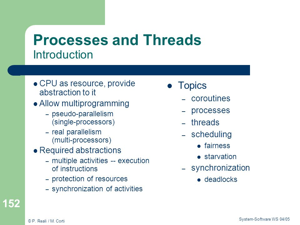 Processes and Threads Introduction