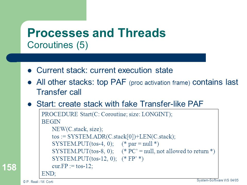 Processes and Threads Coroutines (5)