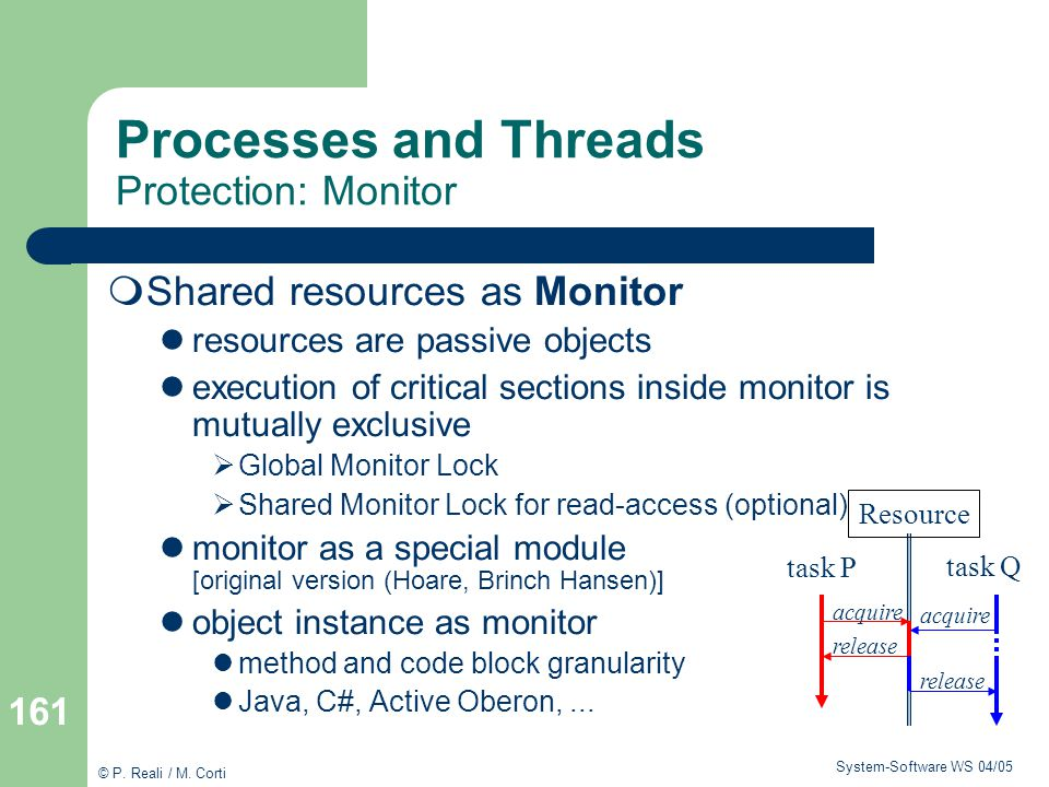 Processes and Threads Protection: Monitor