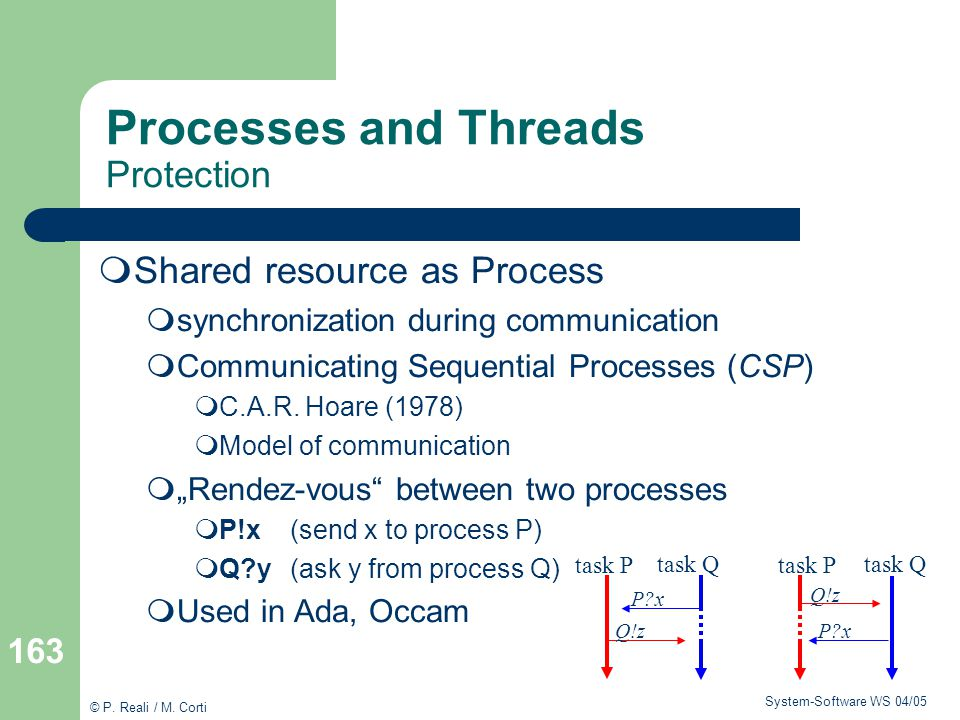 Processes and Threads Protection